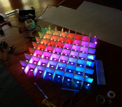 Lampduino An 8x8 Rgb Led Matrix Floor Lamp